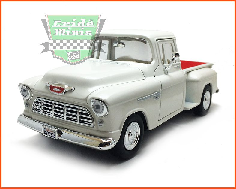 Chevrolet Pick-up 1955 Marta Rocha com caixa expositora e base - escala 1/24