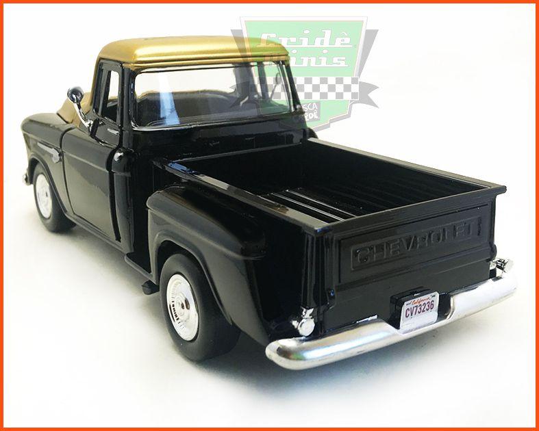 Chevrolet Pick-up 1955 Stepside Garage Gold - escala 1/24