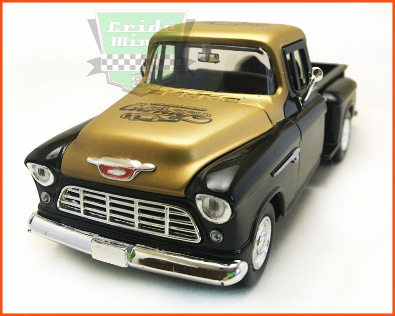 Chevrolet Pick-up 1955 Stepside Garage Gold - escala 1/24