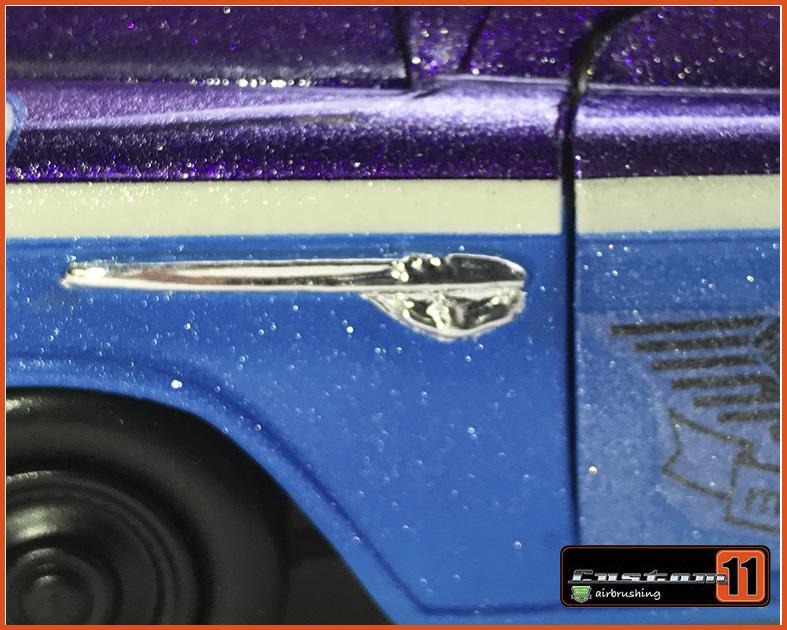Chevrolet Pick-up 1955 Stepside Target Customizado Peça única - escala 1/24