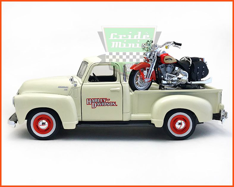 Chevrolet Pick-up 3100 1950/Harley Davidson 2001 - escala 1/24