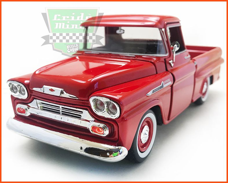 Chevy Apache Fleetside Pick-up 1958 Red - escala 1/24
