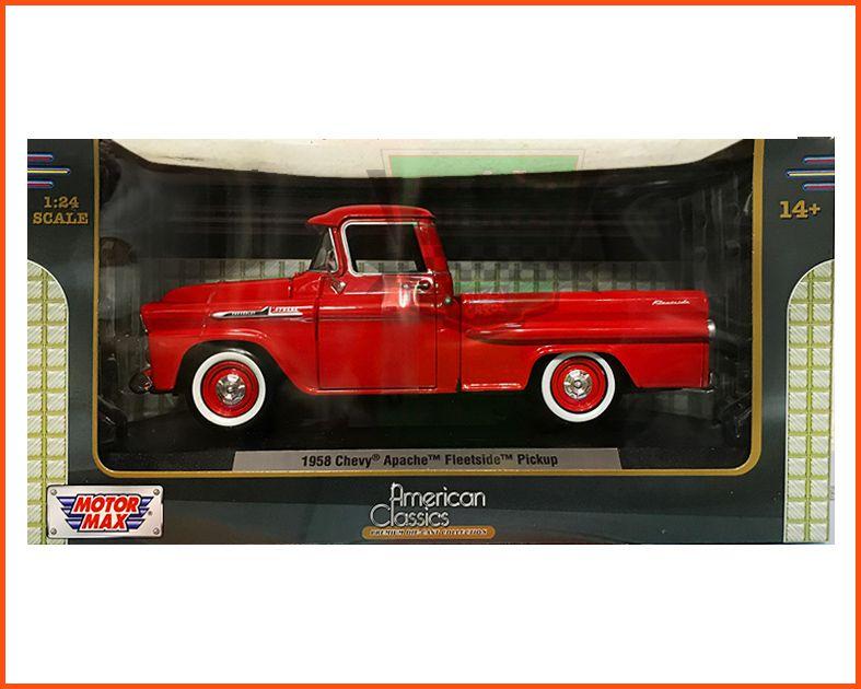 Chevy Apache Fleetside Pick-up 1958 Red - escala 1/24