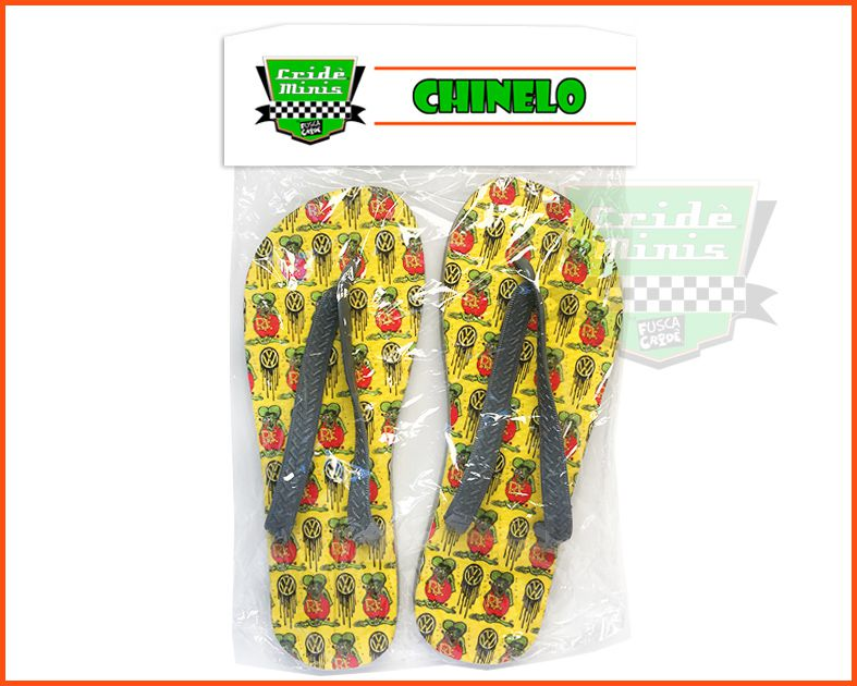 Chinelo de borracha Rat Fink