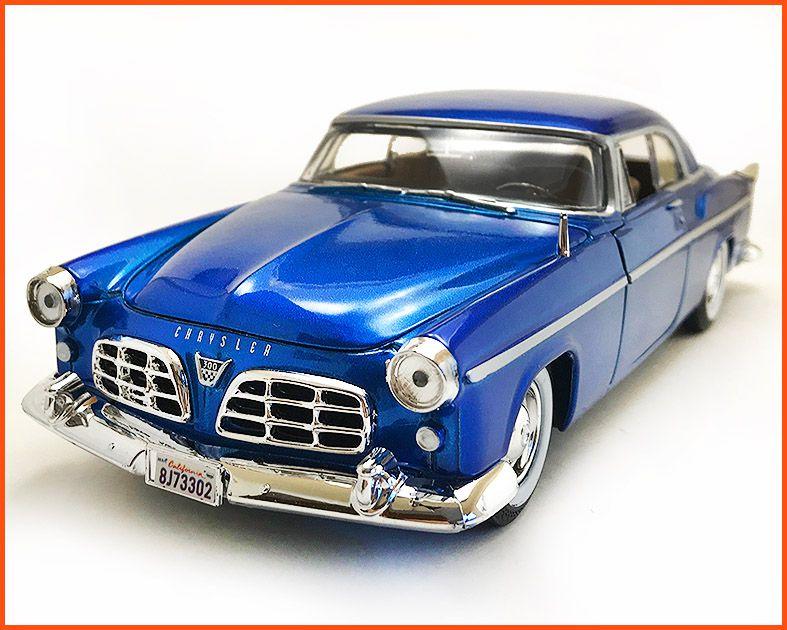Chrysler C300 1955 Azul - escala 1/24