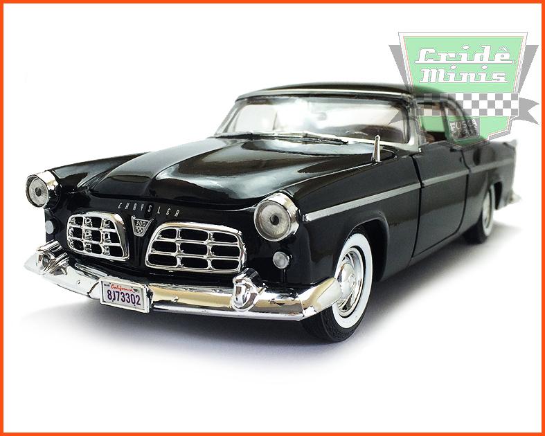 Chrysler C300 1955 com caixa individual e base - escala 1/24