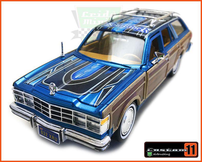 Chrysler LeBaron Wagon 1979 LOW RIDER Customizado - escala 1/24