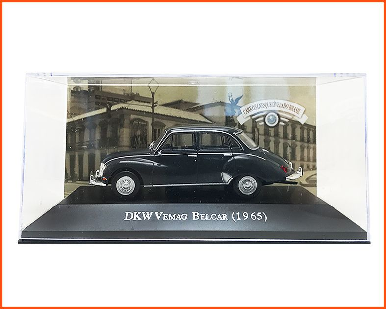 DKW Vemag Belcar 1965 cinza escuro - Caixa de acrílico escala 1/43 = 10,5cm de comprimento