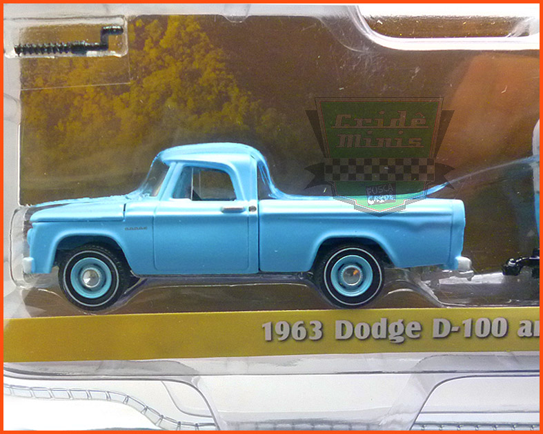 Dodge D-100 1963 and Shasta Airflyte - escala 1/64