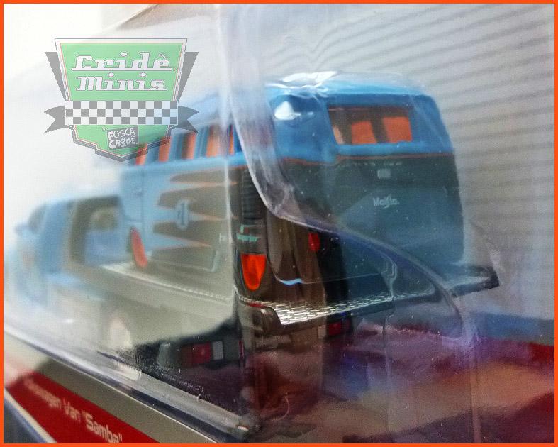 Kombi VW com Guincho Plataforma - escala 1/64