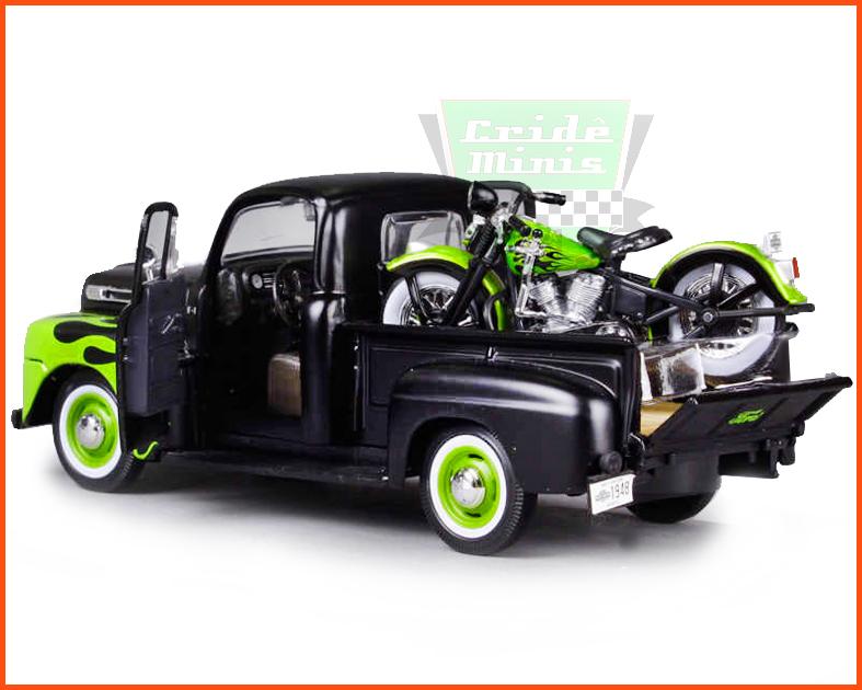 Ford F1 Pick-up 3100 1948 Harley Davidson 1948 - Escala 1/24