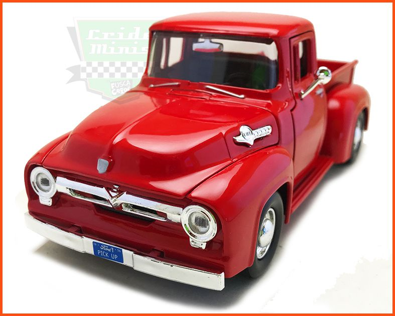 Ford F-100 1955/56 Red - escala 1/24