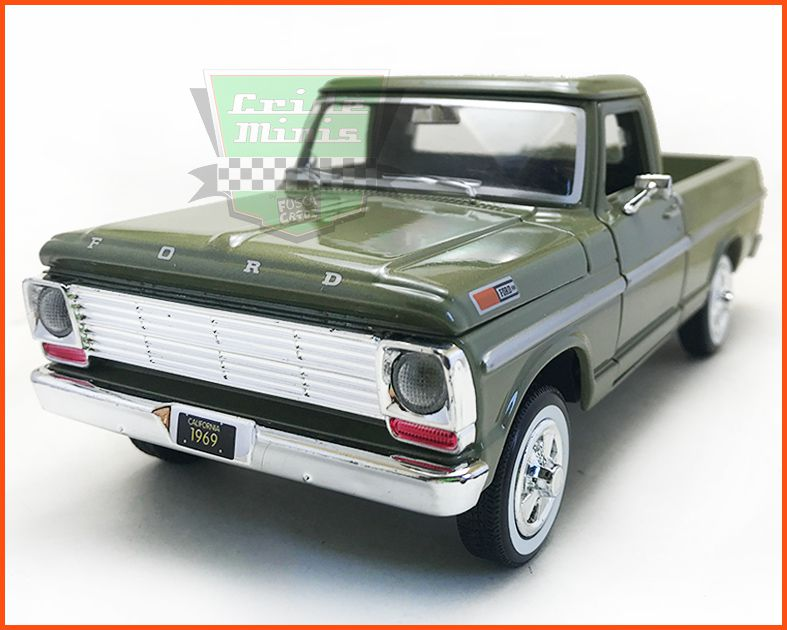 Ford F-100 1969 Green - escala 1/24
