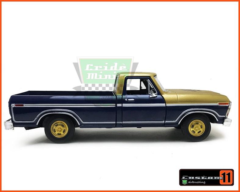 Ford F-150 1979 Gold Garage  Customizado  - escala 1/24