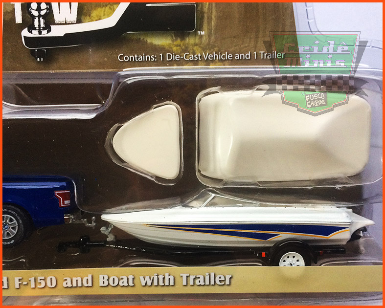Ford F-150 2015 and Boat with Trailer - escala 1/64