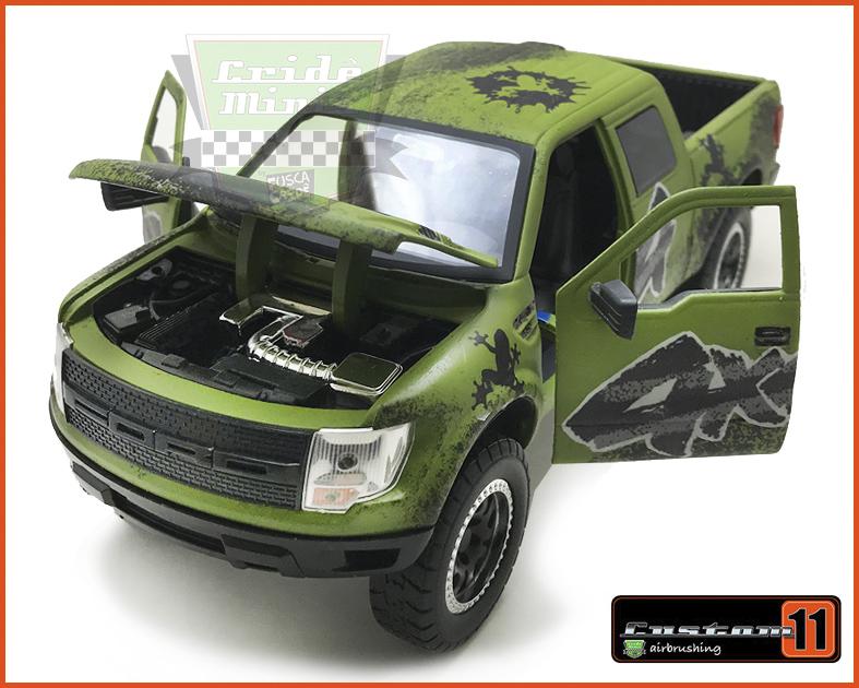 Ford F-150 SVT Raptor 2011 Roda Extra Customizado Peça única  - escala 1/24