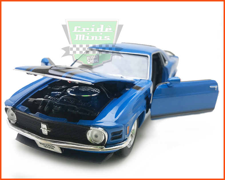 Ford Mustang Boss 302 1970 Blue - escala 1/24