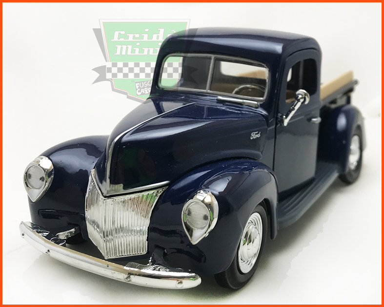 Ford Pick-up 1940 Azul - escala 1/24
