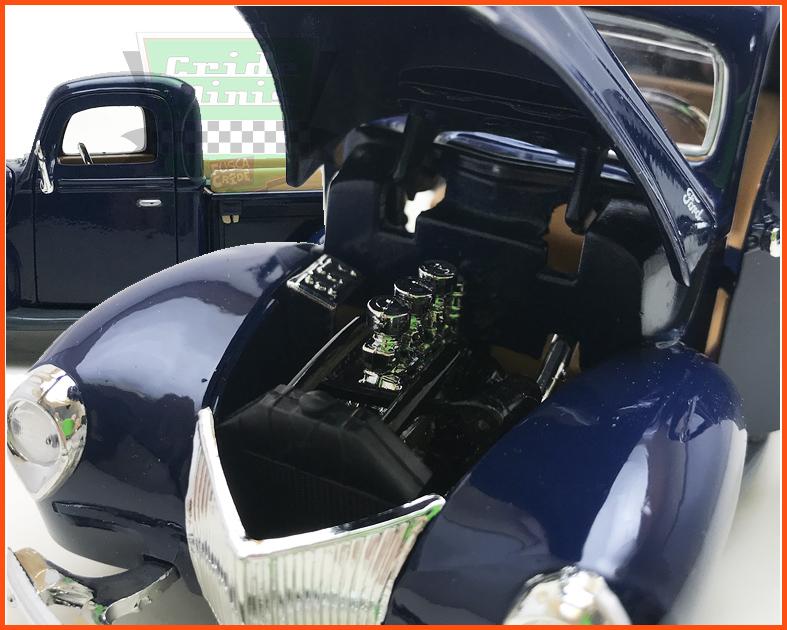 Ford Pick-up 1940 Azul - escala 1/24