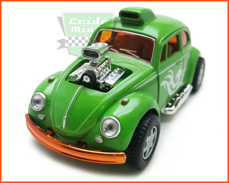 Fusca Dragracer Green fricção escala 1/32