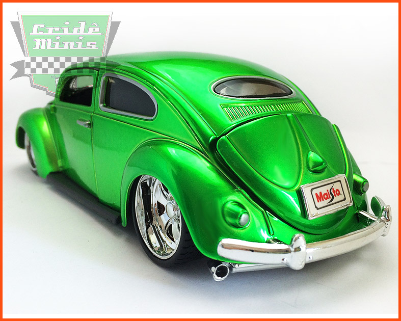 Fusca Oval Window Custom 1955 green - escala 1/24