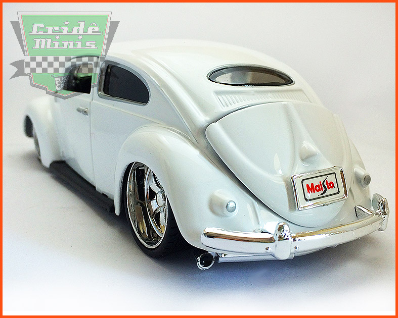 Fusca Oval Window Custom 1955 white - escala 1/24