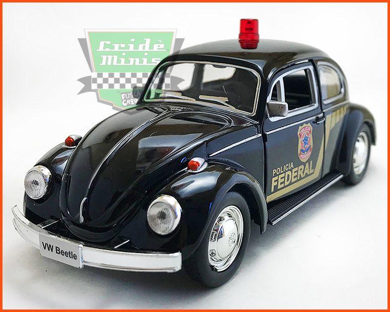 Fusca Polícia Federal - escala 1/32