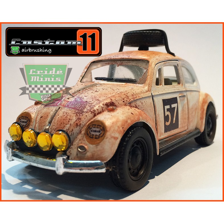 Fusca Rally Monte Carlo 1967 10 dias de produção - escala 1/32