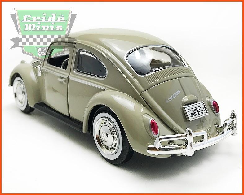 Fusca Sedan 1966 1300 cinza - escala 1/24