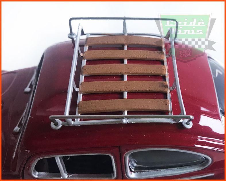 Fusca Sedan 1966 1300 com bagageiro de teto - escala 1/24