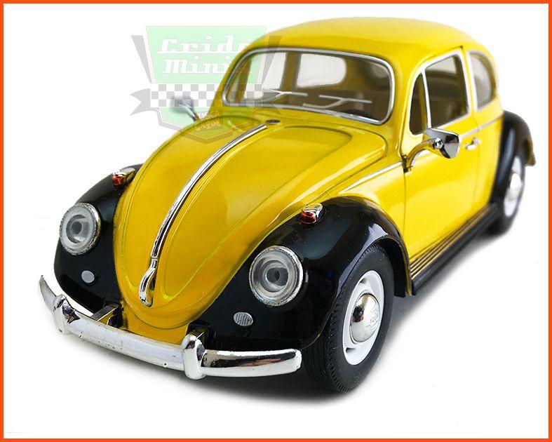 Fusca Sedan 1967 1300 Amarelo - escala 1/24