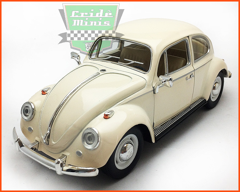 Fusca Sedan 1967 1300 Creme - escala 1/24