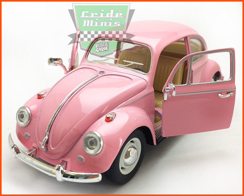 Fusca Sedan 1967 1300 Rosa - escala 1/24