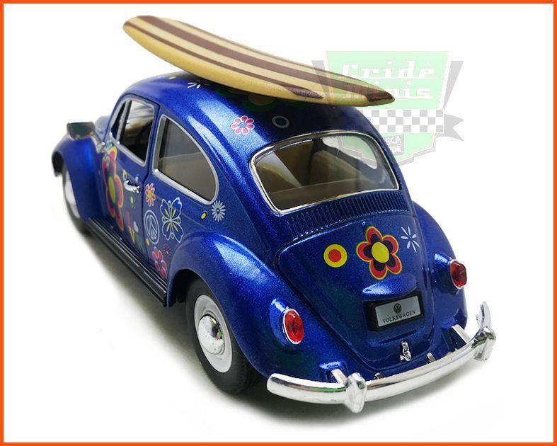 Fusca Sedan 1967 1300 Surfing Azul - escala 1/24