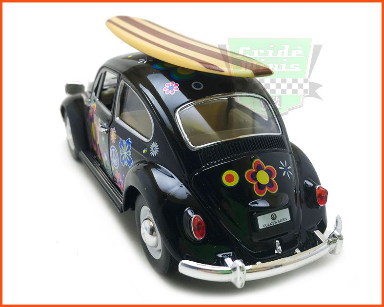 Fusca Sedan 1967 1300 Surfing Preto - escala 1/24