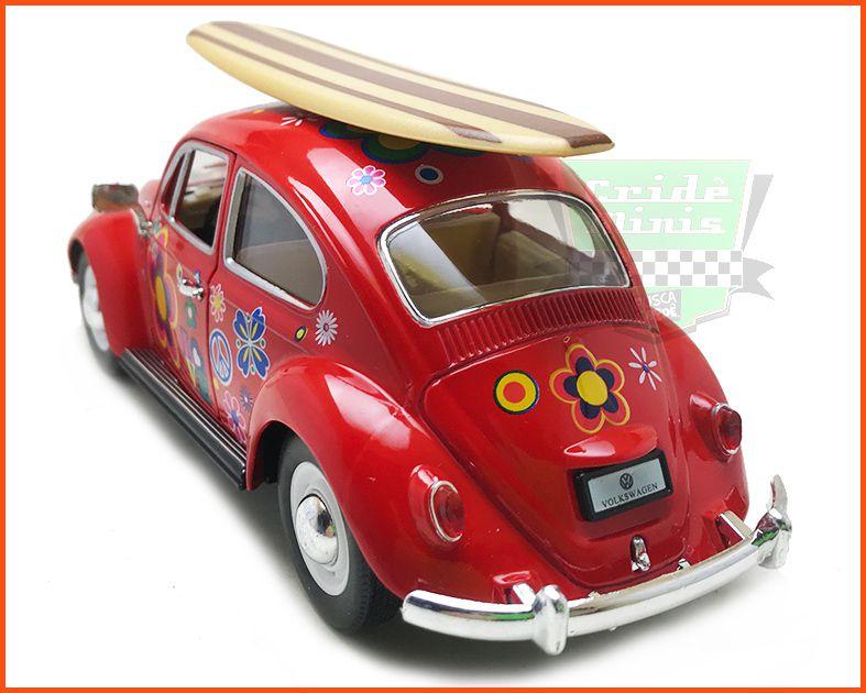 Fusca Sedan 1967 1300 Surfing Vermelho - escala 1/24