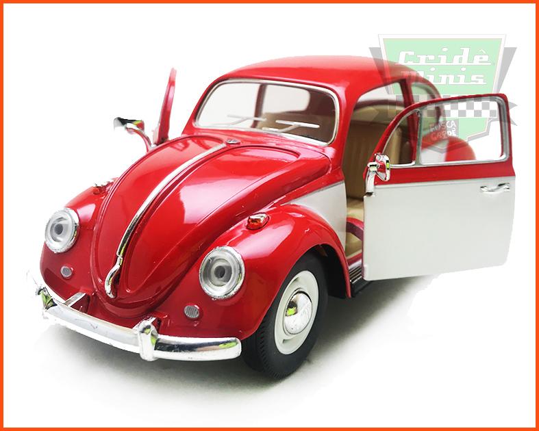 Fusca Sedan 1967 1300 Vermelho Saia e blusa - escala 1/24
