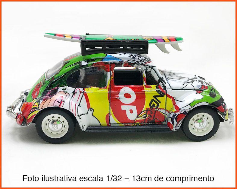 Fusca Sedan 1967 Surfista Pintura Hidrográfica Peça Única- escala 1/32