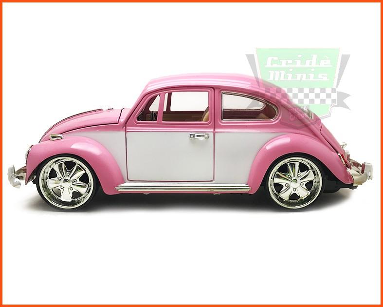Fusca Sedan 1969 Tunado Pink - Escala 1/18