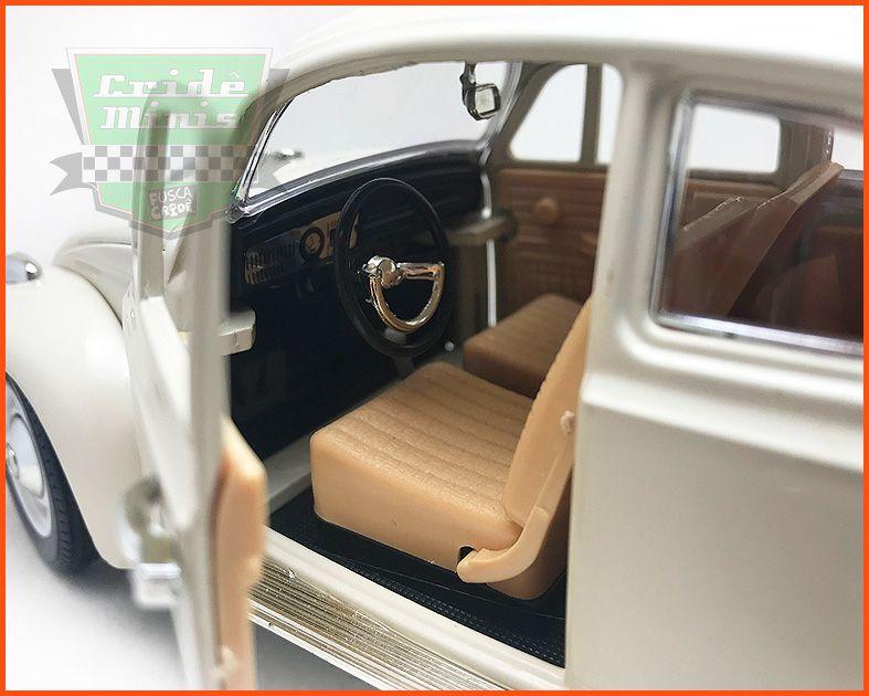 Fusca Sedan Branco Lótus - Escala 1/18