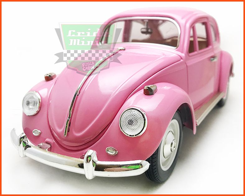 Fusca Sedan Rosa - Escala 1/18