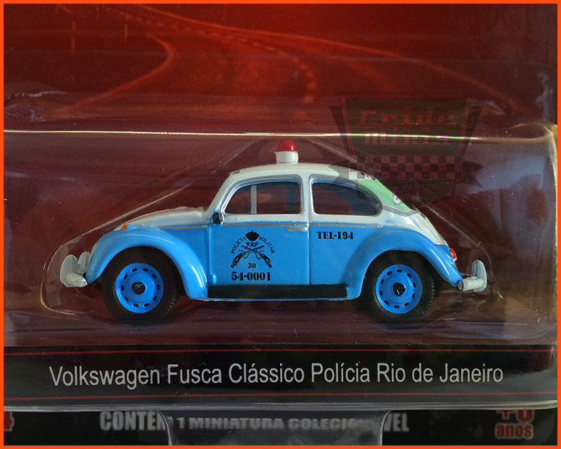 Fusca Viatura 1967 Joaninha PMRJ - escala 1/64
