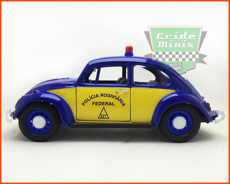Fusca Viatura Polícia Rodoviária Federal 1967 - escala 1/24