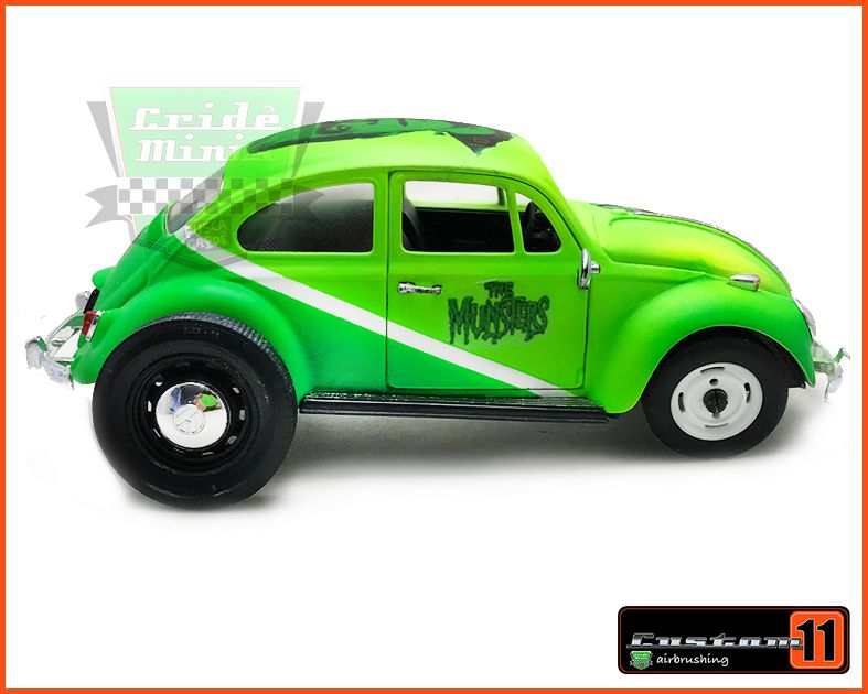 Fusca VW Monster  - Customizado Peça única - escala 1/24