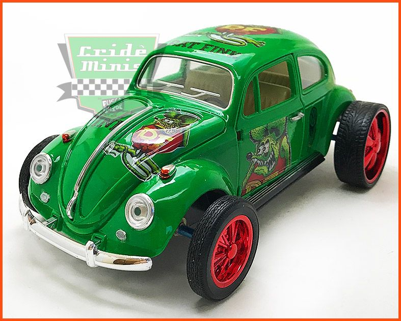 Fusca VW Monster Rat Fink - Customizado - escala 1/24