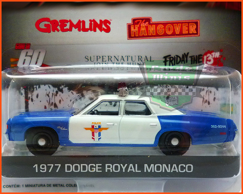 Greenlight Dodge Royal Monaco 77 Sexta-Feira 13 - escala 1/64