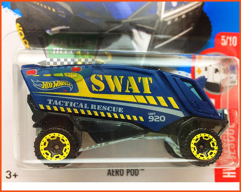 Hot Weels Aero POD SWAT - escala 1/64