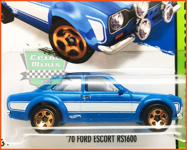 Hot Weels Ford Escort RS1600 1970 Velozes e Furiosos - escala 1/64
