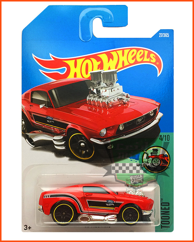 Hot Wheels Mustang 68 - escala 1/64