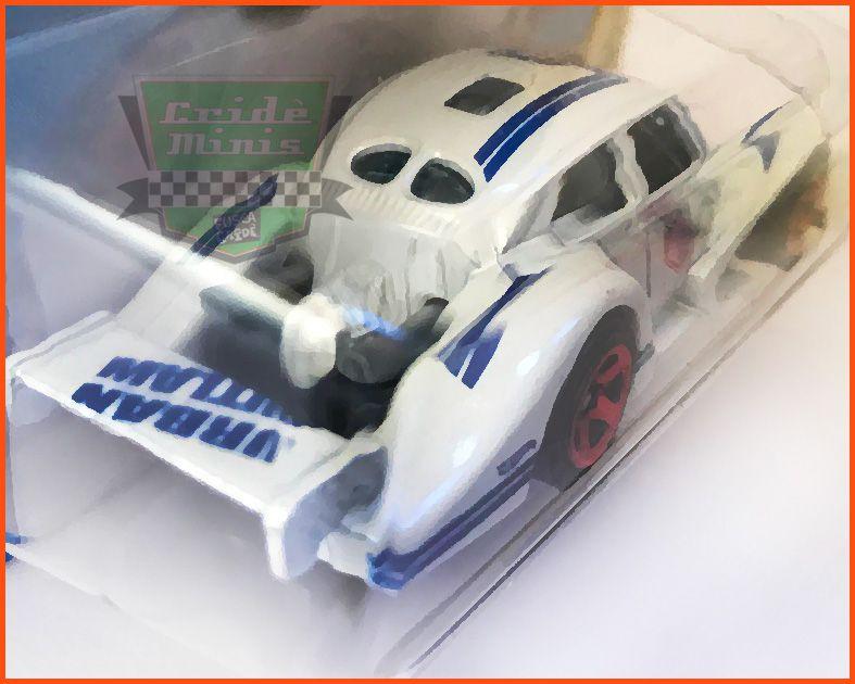 Hot Weels VW Fusca Split Racer White - escala 1/64